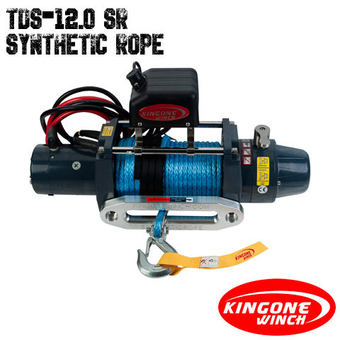 KingOne TDS-12.0 SR Synthetic Rope Winch 12V