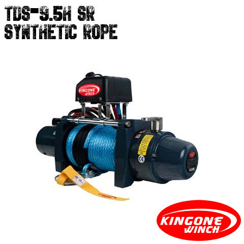 KingOne TDS 9.5H SR HiSpeed Synthetic Rope Winch 12V