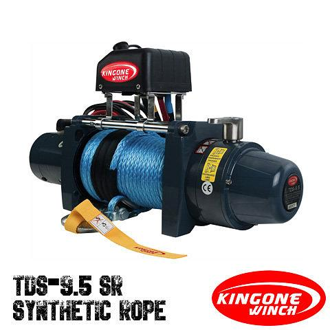 KingOne TDS 9.5SR Synthetic Rope Winch 12V