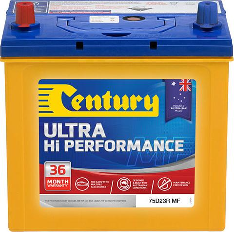 Century Ultra Hi Performance - 75D23R MF, 620CCA