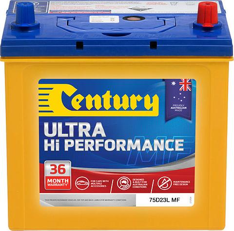 Century Ultra Hi Performance - 75D23L MF, 620CCA